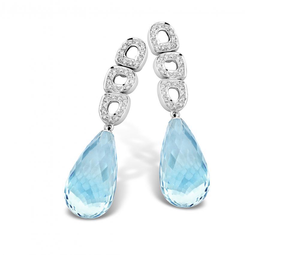 ohrringe 18ct weissgold mit diamanten und blau topaz usk20m0438w. Black Bedroom Furniture Sets. Home Design Ideas